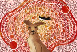 Djindrin (Willy wag-tail) and Nantu (Kangaroo) - Daen Sansbury-Smith