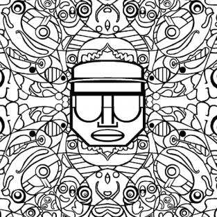 Colouring Sheet by Josh Muir – Psychosis