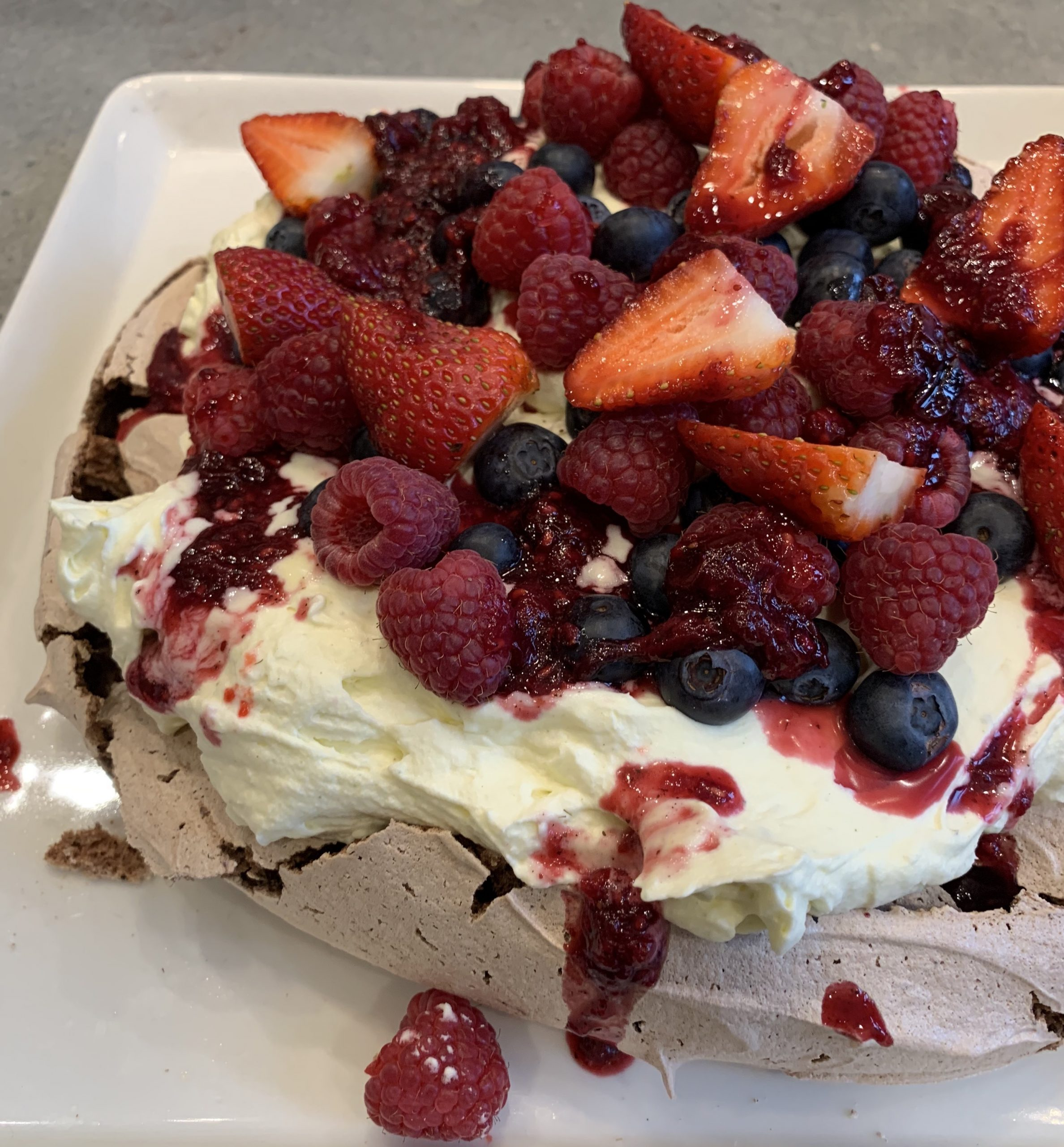Cook-along with Nornie Bero – Wattleseed and Chocolate Pavlova with Strawberry Gum Cream